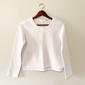Madewell Quilted White Sweater